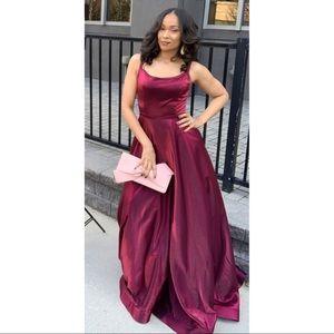 Dark Red Sherri Hill Formal Gown/Prom Dress